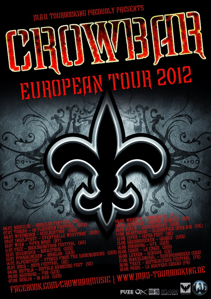 19.08 - Crowbar + Hangman's Chair @ Paris 414289Crowbartour2012