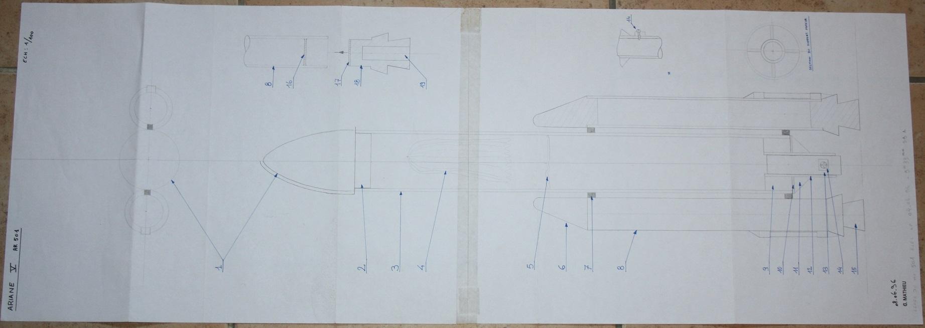 maquettes scratch ARIANE 5 par billmat 420630ARIANE501plan1