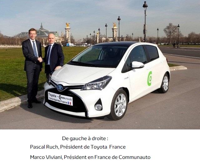 Communauto et Toyota France signent une entente de partenariat pour proposer la Yaris Hybride en autopartage 422121commuautotoyotayarishybride