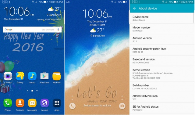 [ROM CUSTOM] [N910C] [Exynos] eRobot NOTE 4 - 5.1.1 - Version 12 4295829701
