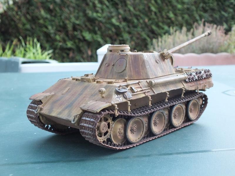 Panther Ausf D Dragon 1/35 avec Zimmerit réf. 6428 (FIN  DE PATINE , finitions lors de la  mise en place sur Dio) - Page 3 430541DSCF7088