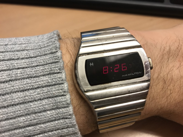 Hamilton QED 1 vintage LED watch 1973 4360814F9DECC64ADB46E5BC35CF38219D69A9