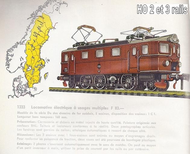 Les machines D/Da/Dm/Dm3 (base 1C1) des chemins de fer suèdois (SJ) 439023Fleishmanncataloque1963centrp26R