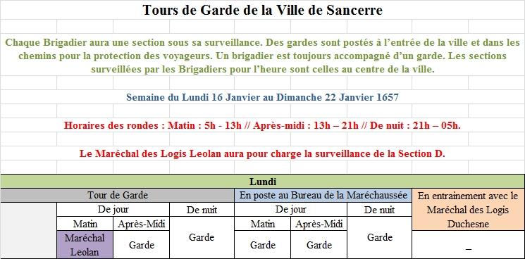 [RP] Plannings des Tours de Gardes de la Ville de Sancerre 4410231Planning