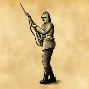 Pions soldats anglais fin XIXème siècle pour projet en cours d'édition 441684PionsoldatanglaisNB