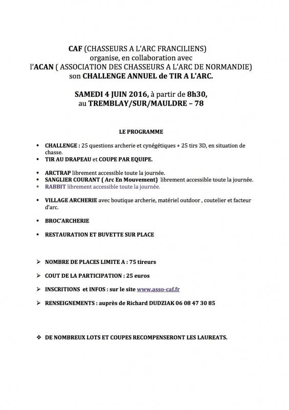 Concours des Chasseurs à l'Arc Franciliens - 4 Juin 2016 442083ChallengeCAF20162