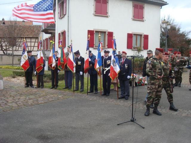 Jebsheim : 60 parachustistes du 1er RCP commémorent la libération de la Poche de Colmar 446774055