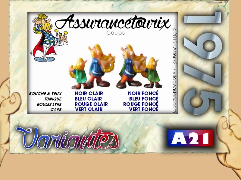Astérix® les Variantes d'Hier et d'Aujourd'hui [Le Catalogue] 452723MarbreVariantesKinder1975Assurancetourix