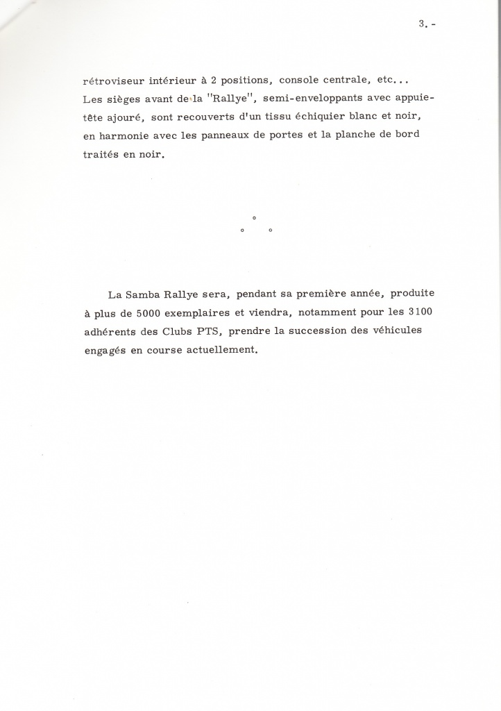 Dossier de presse Talbot Samba Rallye (septembre 1982) 456145a0003