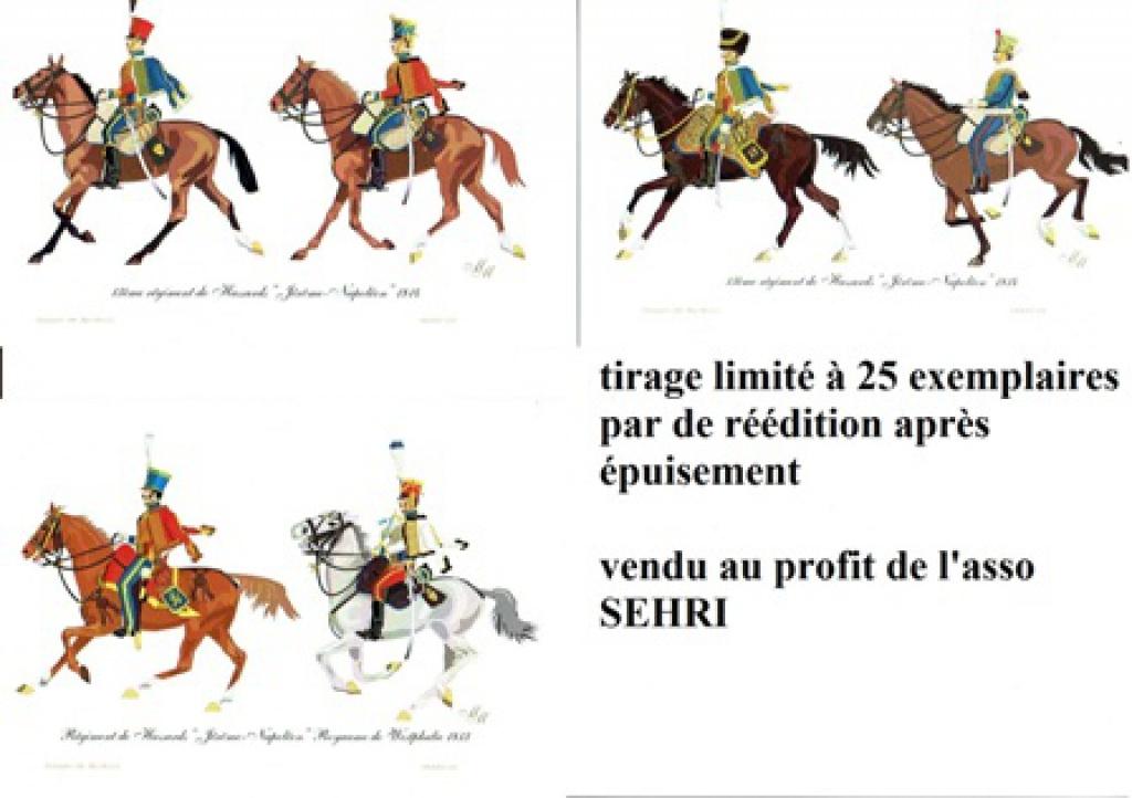 les séries de cartes postales uniformologiques de la SEHRI 45617413ejrme