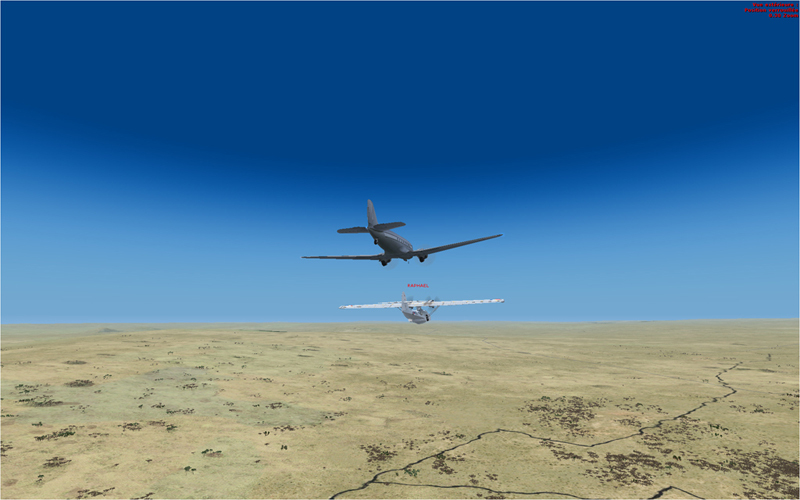 Vol en formation en Afrique (DC3) 4593392013222222616989