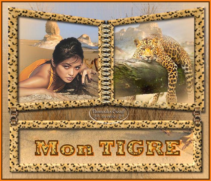 """26- """"Mon Tigre"""" tuto de vannades cré@ 46365426MonTigre"""