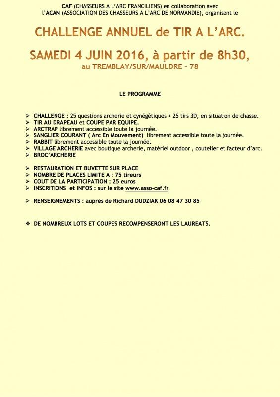 Challenge annuel de tir à l'arc - Tremblay Sur Mauldre (78) 463998ChallengeCAFACAN20162