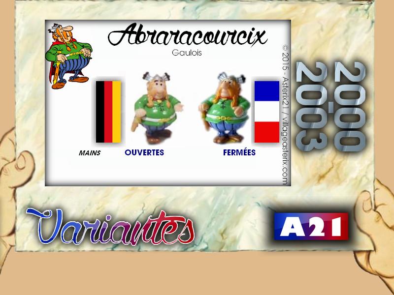 Astérix® les Variantes d'Hier et d'Aujourd'hui [Le Catalogue] 468156MarbreVariantesKinder20002003Abraracourcix