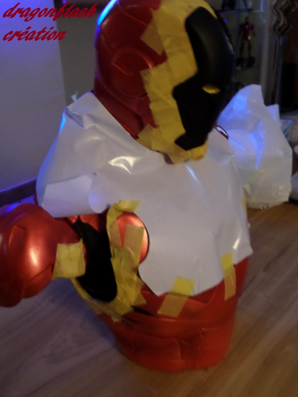 dragonflash création : buste iron man 1/2  (+-40 cm de haut) le final 4720814920