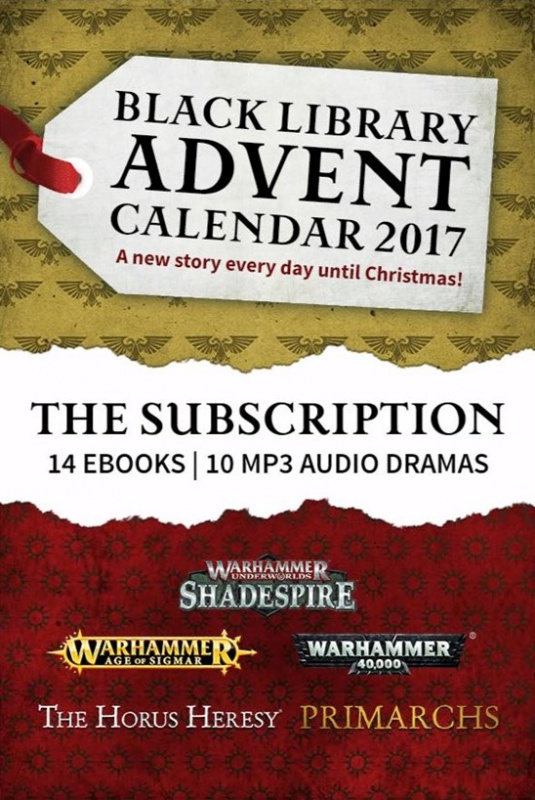 Black Library Advent Calendar 2017 472424BLPROCESSED0112Advent2017Subscriptioncover