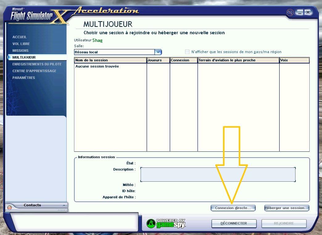 Comment rentrer dans une session à l'aide d'une IP 472600262