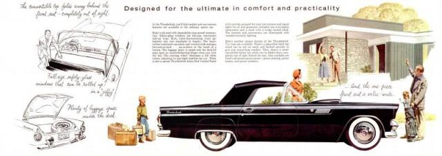 ford thunderbird 1955 au 1/16 de chez amt  475733brochure19553