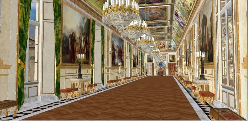 Reconstitution virtuelle du Palais des Tuileries, états Premier Empire et Second Empire 479344diane2