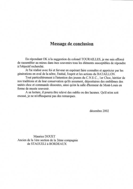 Le 1er Bataillon de Choc à STAOUELI en 1943  par Maurice DOUET (2002) 4811102811