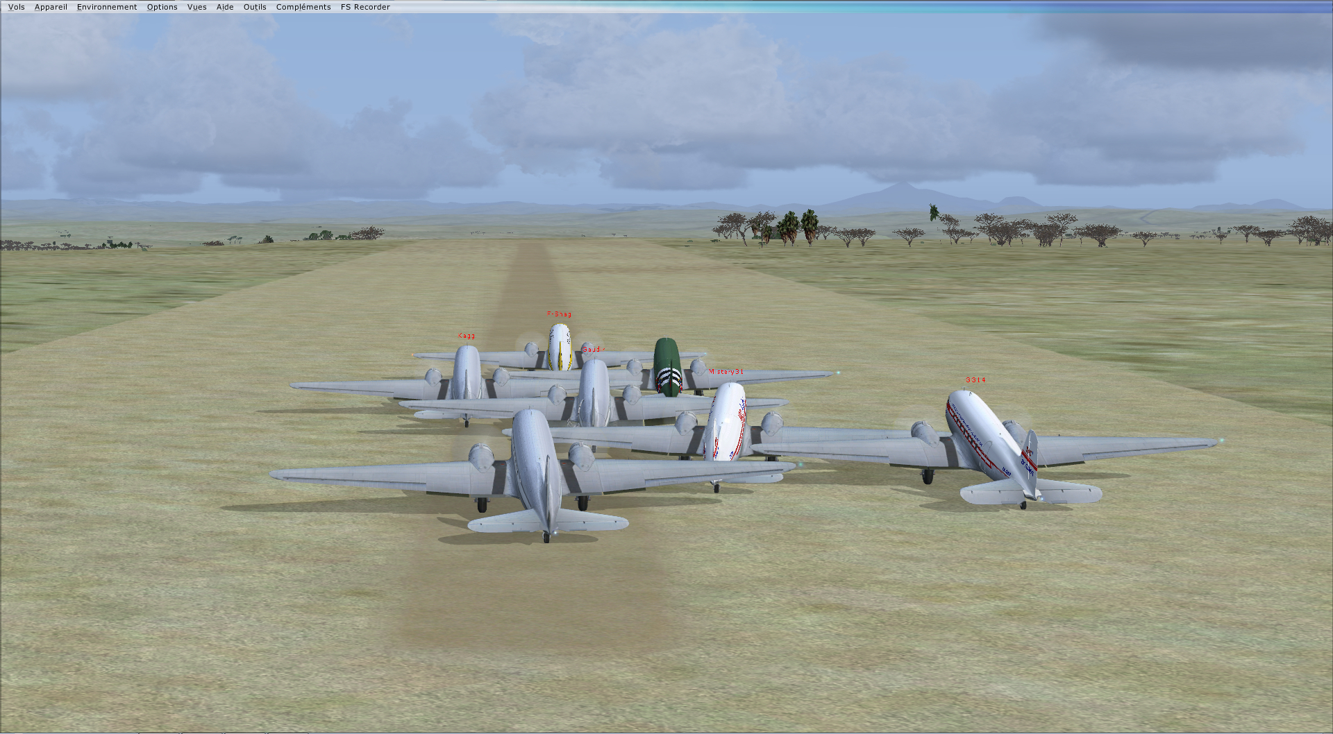 Vol en formation en Afrique (DC3) 483045201322221373260