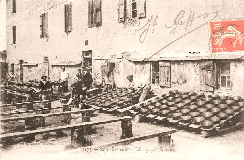 """Cartes Postales Anciennes """"St Zacharie Var"""" 485635Fabriquedecramiquesastzacharie"""