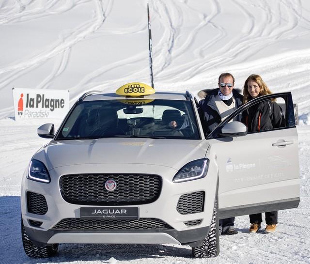 Alix Bénézech Coachée Par Anthony Beltoise inaugure la Jaguar Fun Zone à la Plagne A Bord De La Jaguar E-PACE Et La F-TYPE SVR 490202portraitanneetbelt