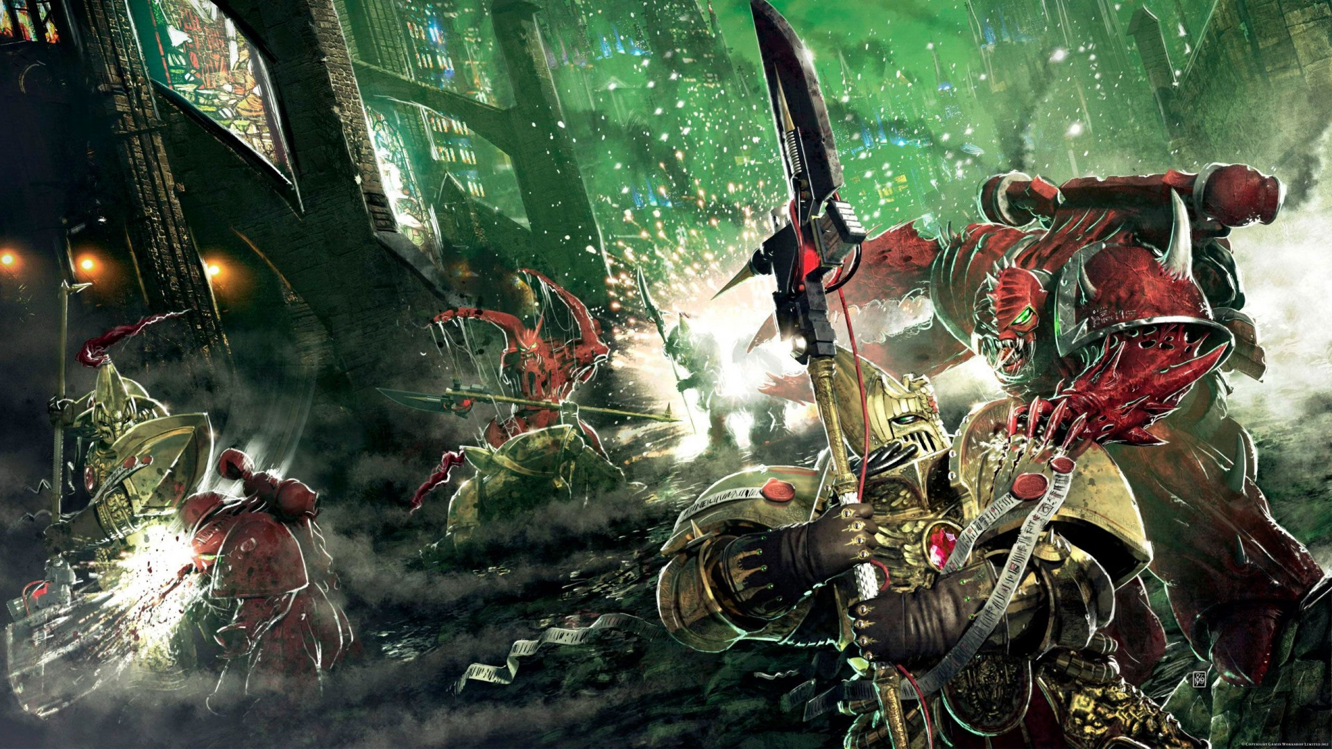Horus Heresy Wallpapers 498132TheFirstHereticbyNeilRoberts