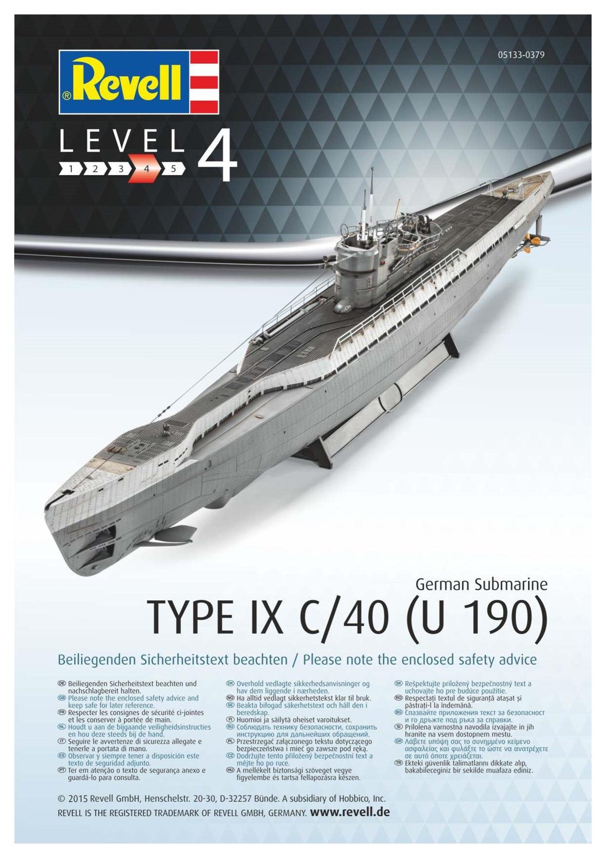 Revell U-Boot type IXC au 1/72ème 501327805133UbootIXcnouveau1