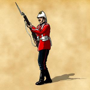 Pions soldats anglais fin XIXème siècle pour projet en cours d'édition 505503Pionsoldatanglaiscouleur