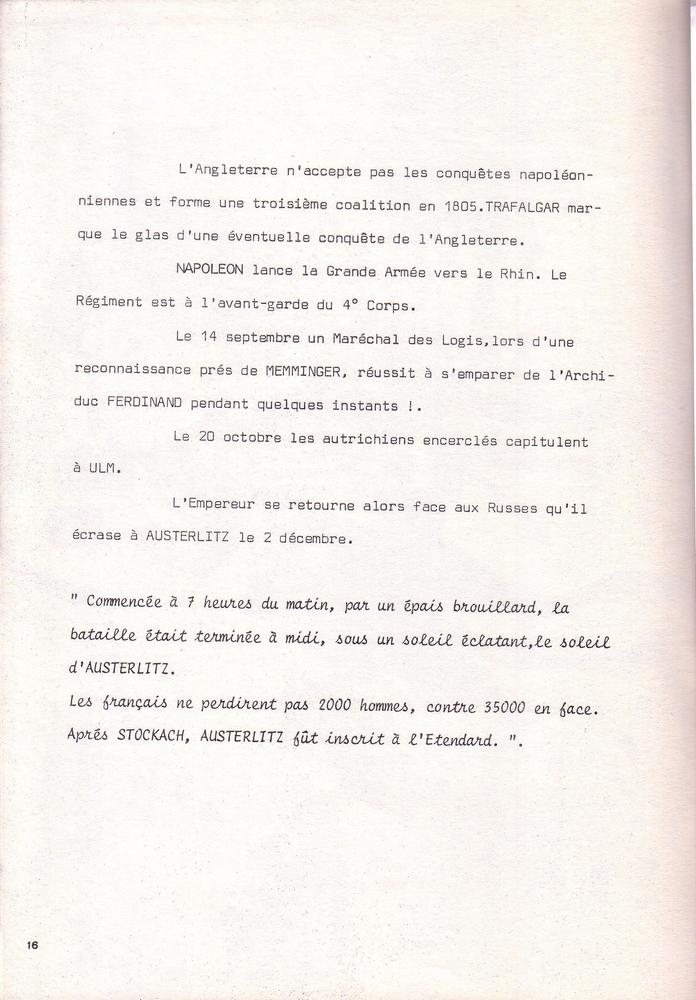 L'épopée Napoléonienne du 8 ème Régiment de Hussards  510283Historique8RHN16