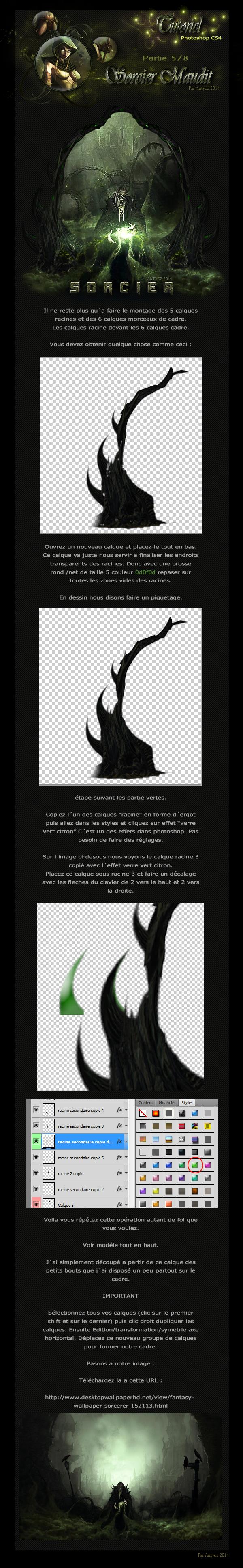 [Intermédiaire] Sorcier maudit Lineart plume texture. 510866tuto5sorcier