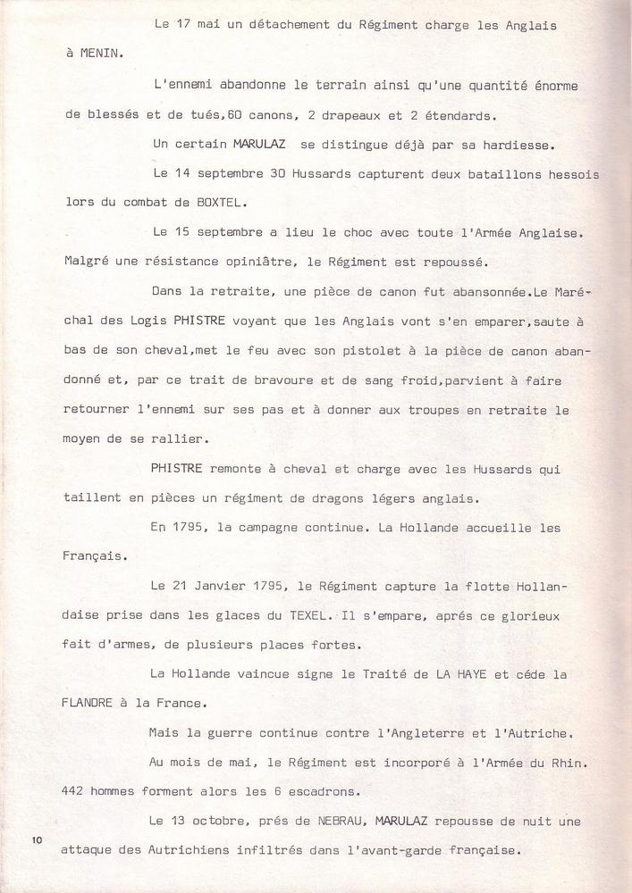 L'épopée Napoléonienne du 8 ème Régiment de Hussards  519041Historique8RHN10