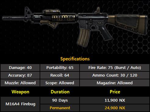 31 juillet: Myst-N+ et M16A4 FIREBUG 520311m16