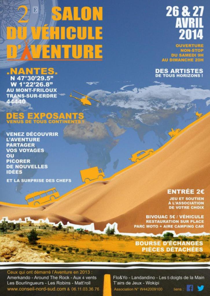 """Nantes (44)  - Salon """"Aventure et Voyages"""" - Les 26/27 Avril 2014 521006475838AfficheSVA2014hlight"""