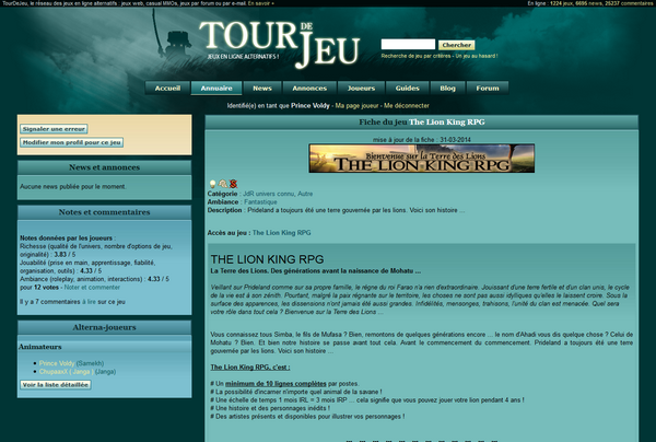 The Lion King RPG sur Tour de Jeu 529805ScreenTDJ