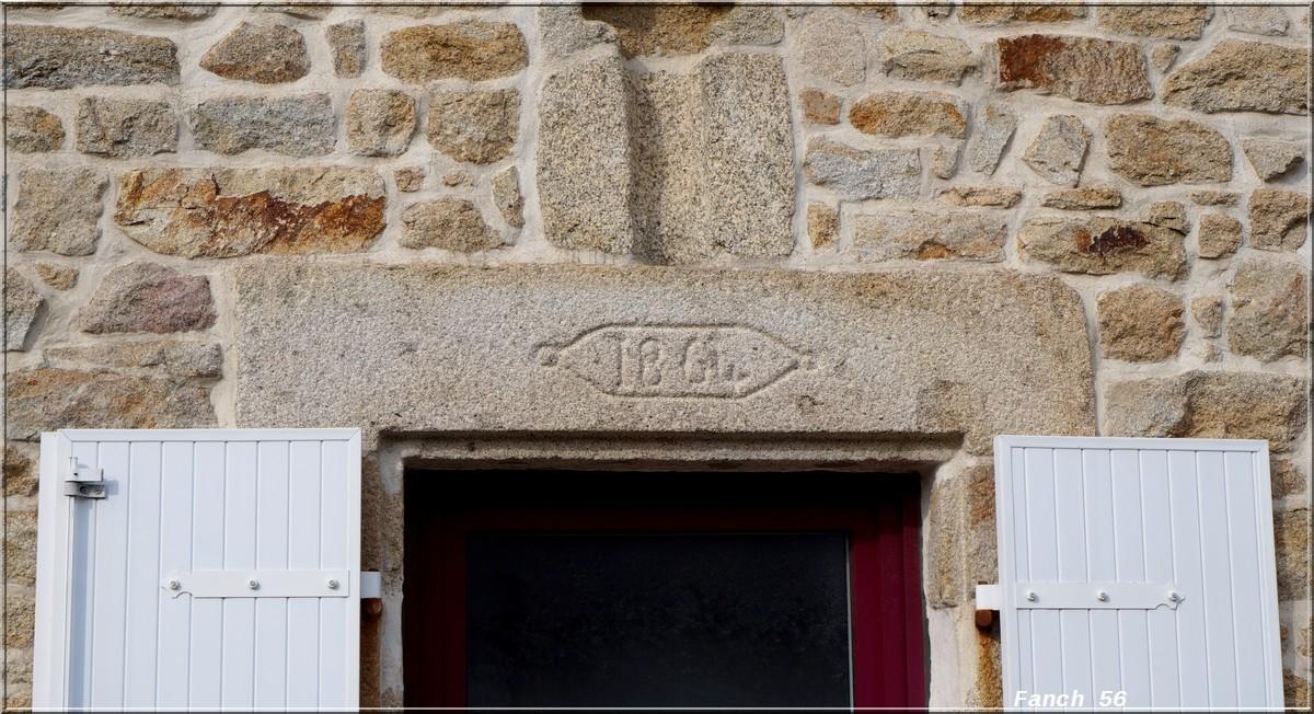 Fil ouvert-  Dates sur façades. Année 1602 par Fanch 56, dépassée par 1399 - 1400 de Jocelyn - Page 2 544671dateplouhinec1864