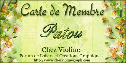 Carte de membre 544899Patou