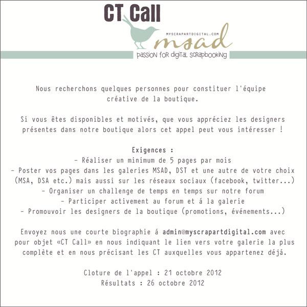 CT Call MSAD   *** CLOS*** 553359appelctstorefr