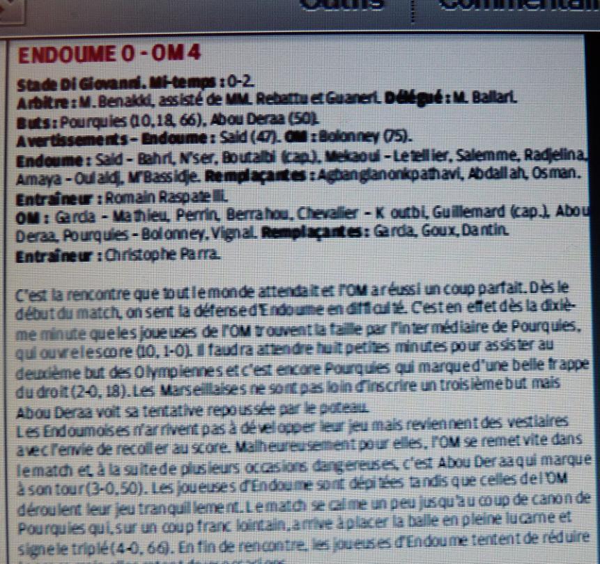 OM // ALLEZ LES FEMMES / D2 - Page 2 554801P1250346