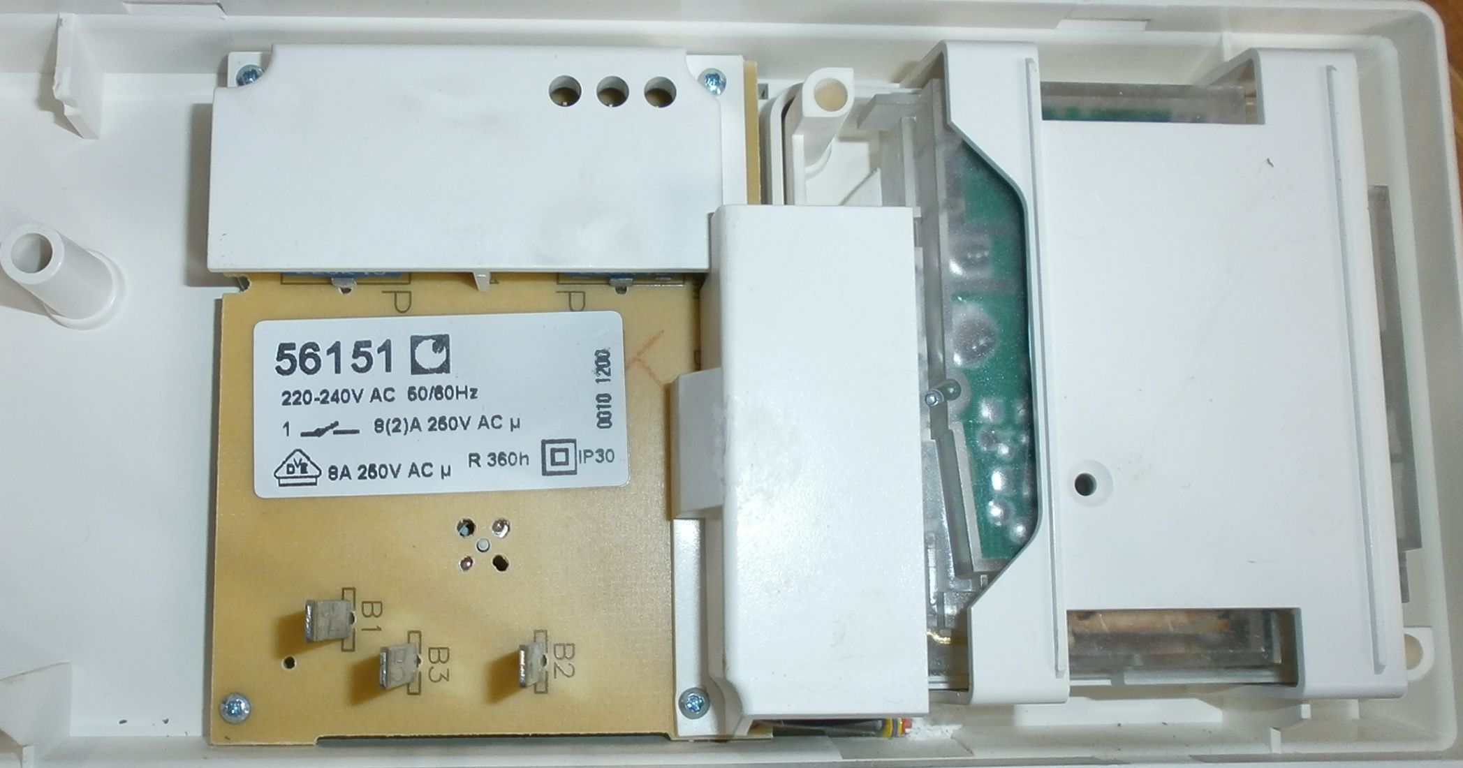 Problème branchement programmateur chauffage 555523P3230029