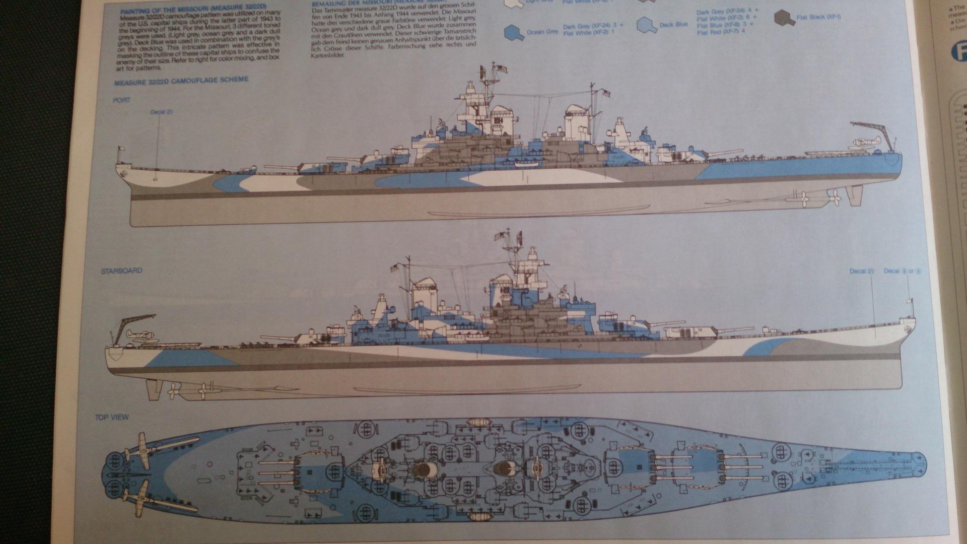 USS MISSOURI 1/350 TAMIYA 556177Missouribb6331