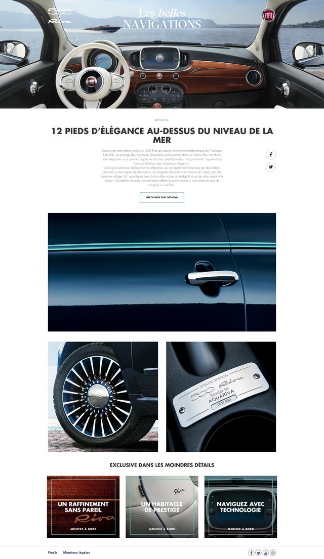 Commercialisation de la nouvelle Fiat 500 Riva - Vendredi 8 Juillet 2016 557170LesBellesNavigations500Riva