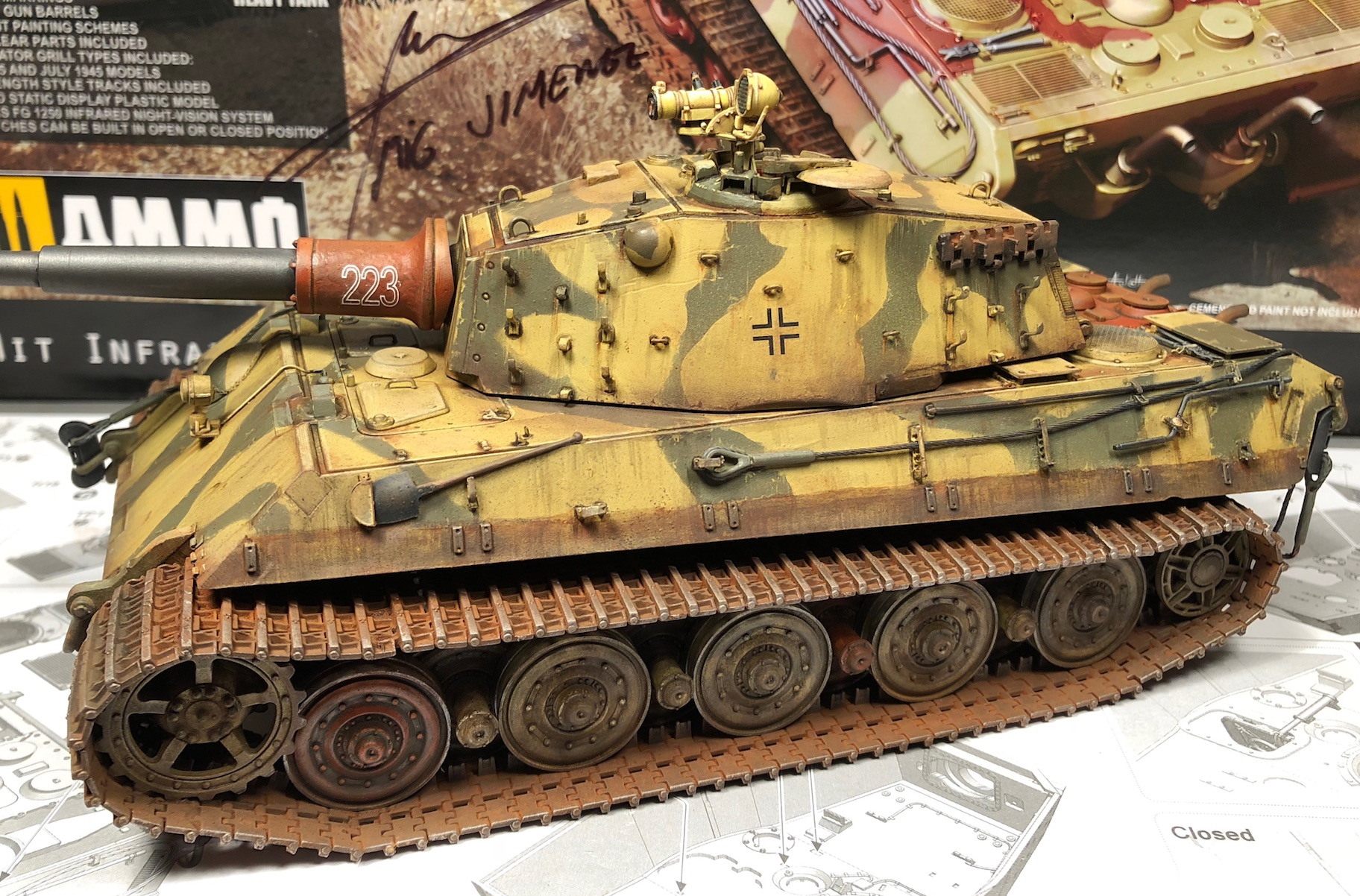 "King Tiger Ammo ""What If"" 557677Weathering3LeftC"