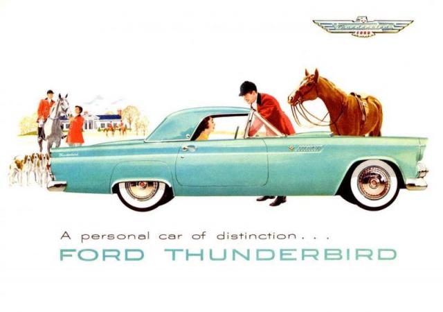 ford thunderbird 1955 au 1/16 de chez amt  567180brochure1955