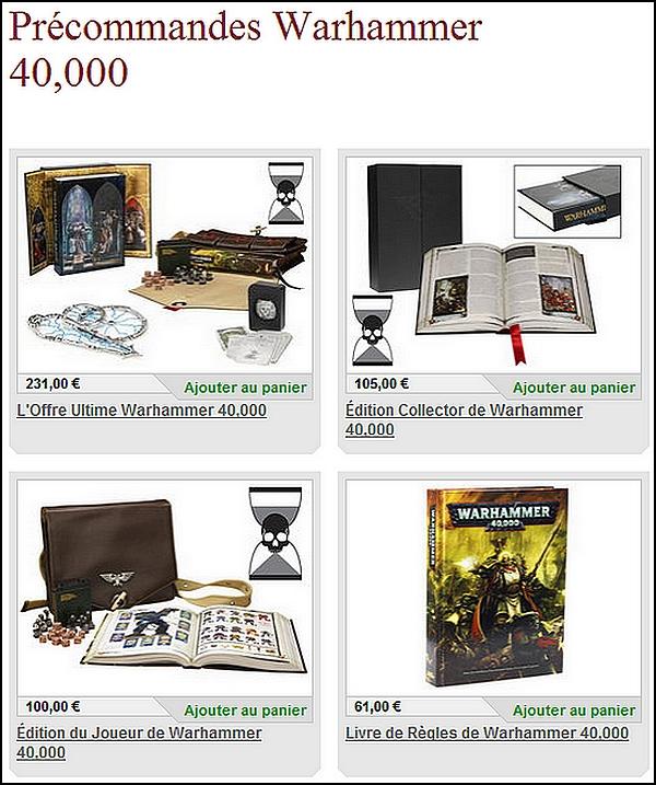 Le Livre de Règles de Warhammer 40,000 - V6 (en précommande) - Sujet locké 567417PrecosW40K
