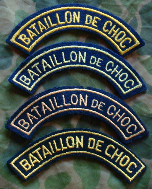 LES INSIGNES DU BATAILLON DE CHOC 1943/1963. 568194DSC07934