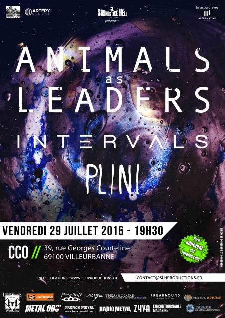 ANIMALS AS LEADERS/ INTERVALS/ PLINI @ CCO Lyon 568322AALEUROPEPSDCLEANNODATESFR