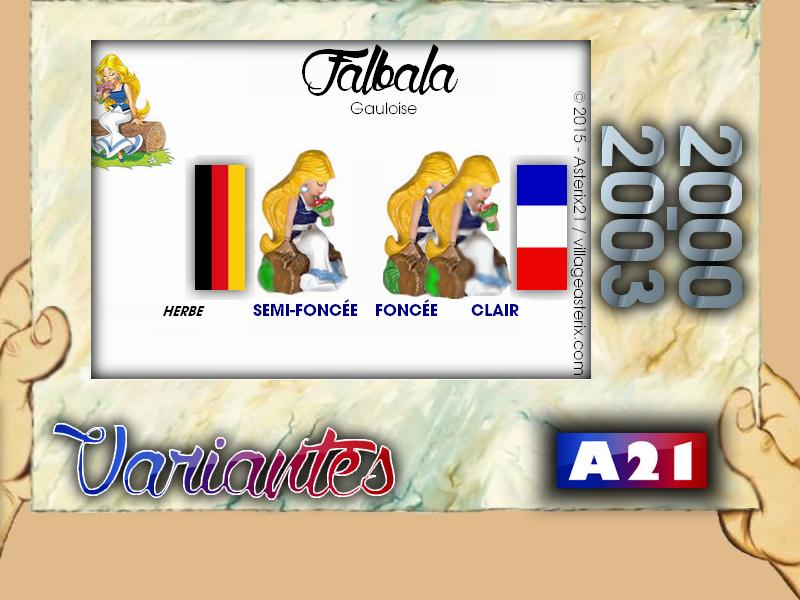 Astérix® les Variantes d'Hier et d'Aujourd'hui [Le Catalogue] 575737MarbreVariantesKinder20002003Falbala