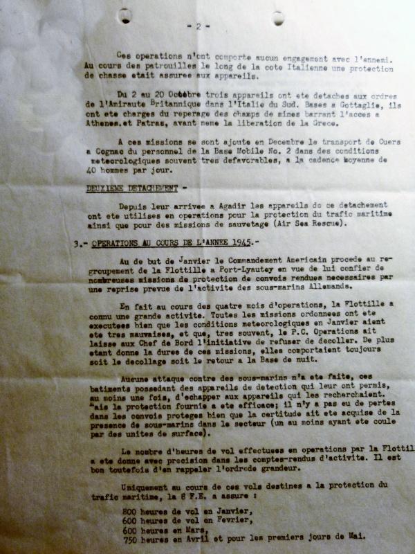 [ Aéronavale divers ] [ 1945-1950 L'histoire des grands oiseaux blancs à tête de loup noir en Indochine - Page 2 575767AG8FE450516noteactivits063